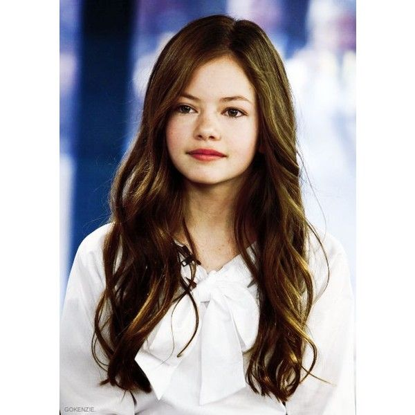 Mackenzie Foy ❤ liked on Polyvore featuring people, kids, girls, hair and faceclaims