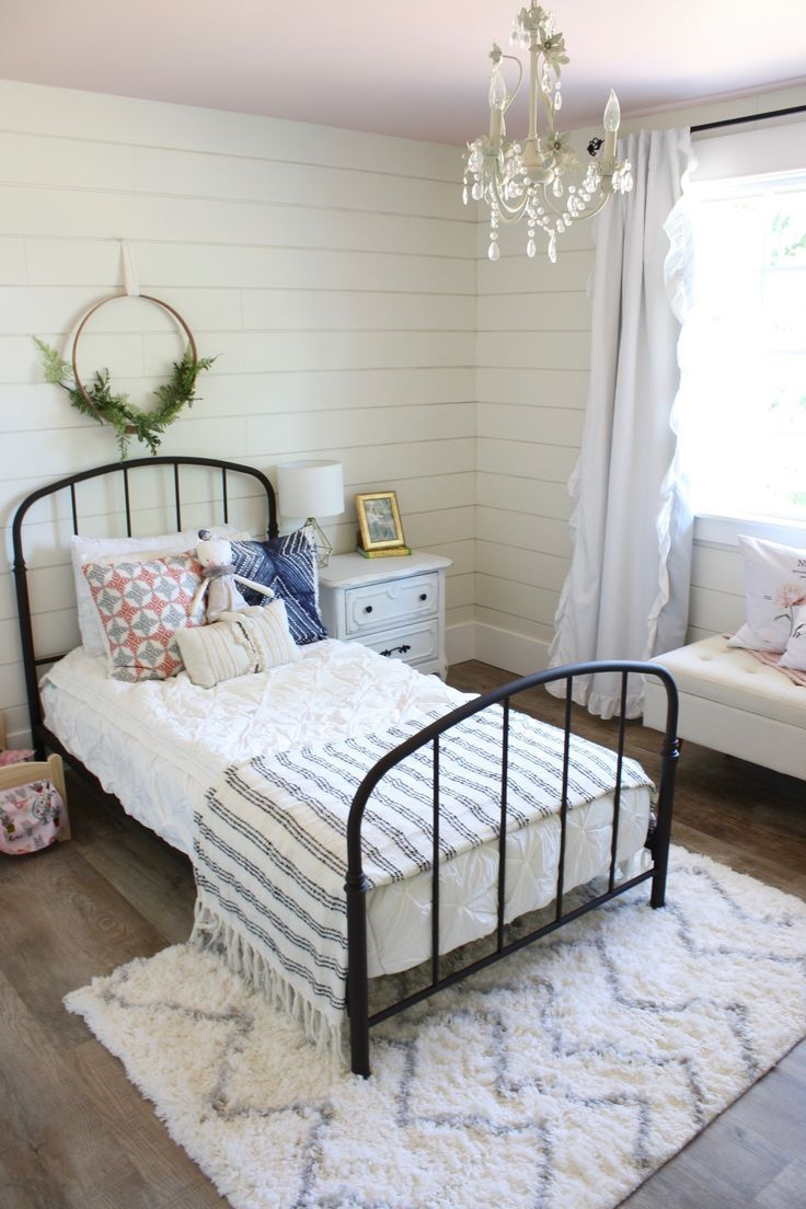 Boho Farmhouse Big Girl Room Shared Girls Bedroom Girl Room