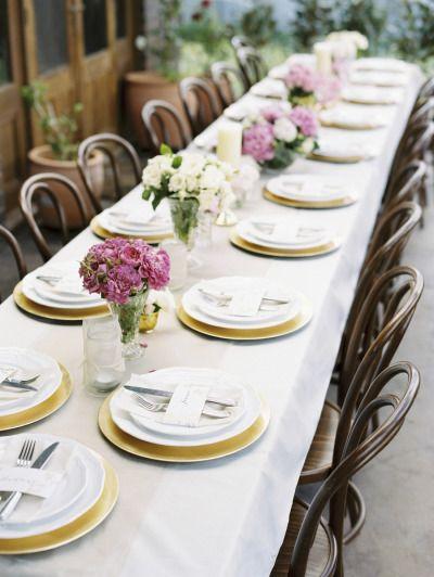 Wood and gold table: http://www.stylemepretty.com/2014/09/30/elegant-backyard-wedding-in-australia/ | Photography: Bentinmarcs Photography - http://bentinmarcs.com/