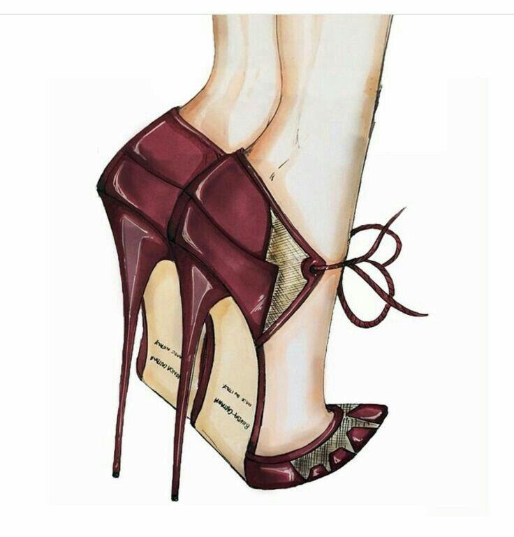 Картинки с обувью в карандашей