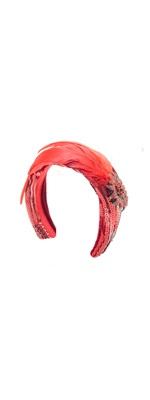 Red It's A Wrap Sequin Headband