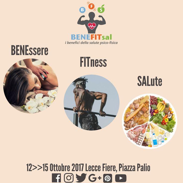°°°BENEFITsal, UNICA FIERA per il SUD ITALIA°°°#BENEFITsal è il nome della fiera del #benessere(BENE), del #fitness(FIT) e della #salute(SAL).L'evento si svolge dal 12 al 15 Ottobre 2017 nel Centro Fiere di #Lecce e raccoglie #espositori, #eventi collaterali, #workshops, #convegni e #concorsi, secondo un concetto di #fiera attiva e ricca di contenuti.www.benefitsal.it