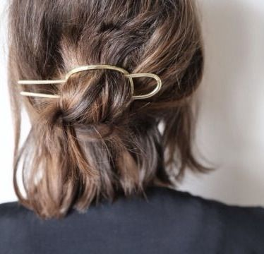 Put a pin in it with this handmade american hair piece by Annika Kaplan.