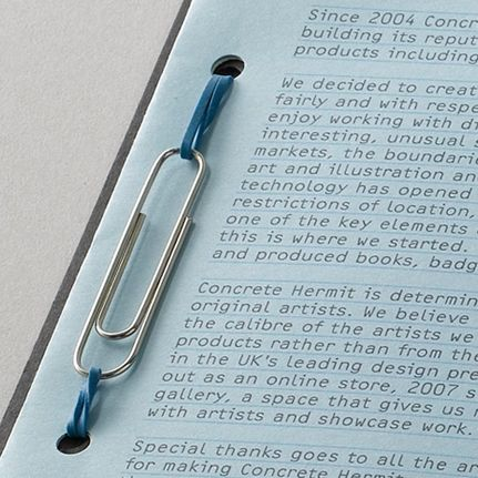 binding with a paper clip and rubber band - clever expandable binding