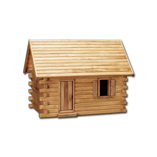 Joeys Log Cabin Dollhouse by Real Good Toys | cute mini