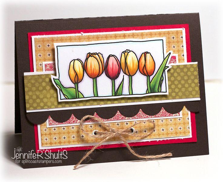 http://deconstructingjen.com/wp-content/uploads/2012/09/Tulips-Jen.jpg: Cards Flower, Cards Ideas, Handmade Cards, Only Shult, Thank You Cards, Cardmaking Ideas, Cards Inspiration, Thanks You Cards, Cards Artistry