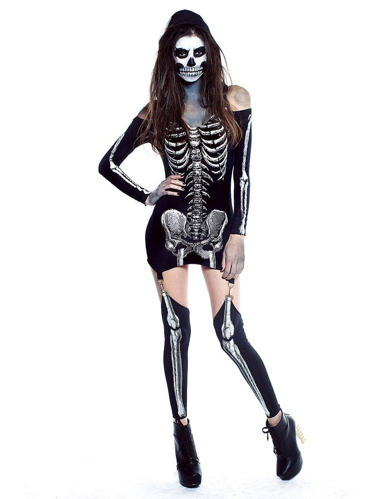 adult x rayed skeleton costume - Cheap Creepy Halloween Costumes