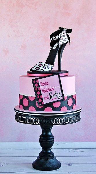 Schoen met hoge hak taart / High heel shoe cake
