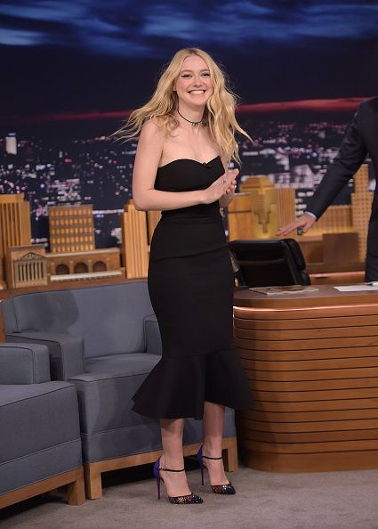 Actress Dakota Fanning visits 'The Tonight Show Staring Jimmy Fallon' at Rockefeller Center on October 12 2016 in New York City