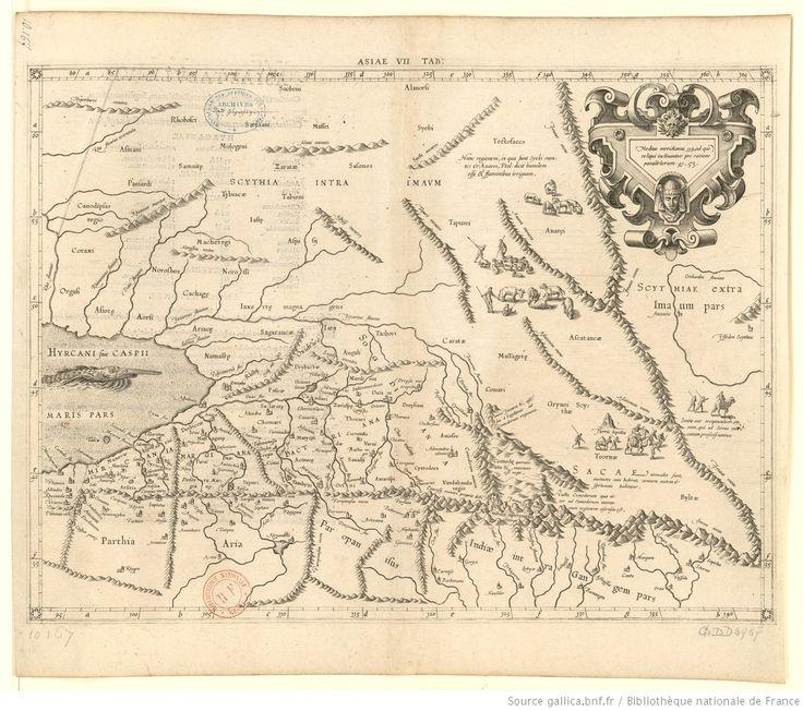 Asiae Tabula VII : Continet Hyrcaniam, Margianam, Bactrianam, Sogdianam, Sacas & Scythiam intra Imaum / [Mercator d'après Ptolémée]