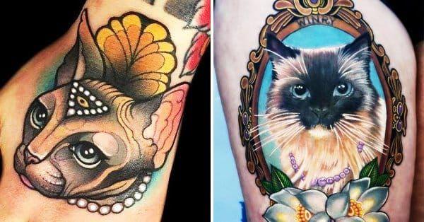 32 Majestic Cat Portrait Tattoos