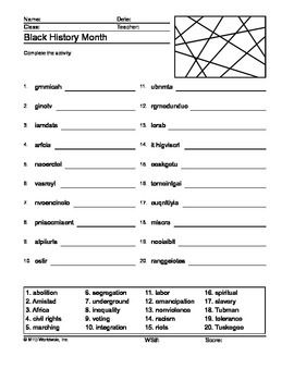 black history month worksheets for 1st grade free printable black history worksheets for first. Black Bedroom Furniture Sets. Home Design Ideas