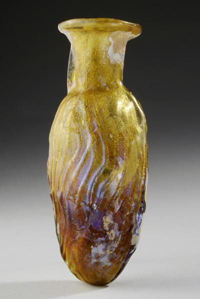 Roman Perfume Flask in the Shape of a Date | 1st Century AD, 2nd Century AD | Price $2,600.00 | Roman | Glass | Vessels | eTiquities by Phoenix Ancient Art
