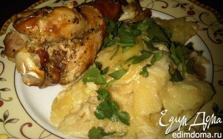 Крылья индейки, запеченные с картофелем в рукаве | Кулинарные рецепты от «Едим дома!»