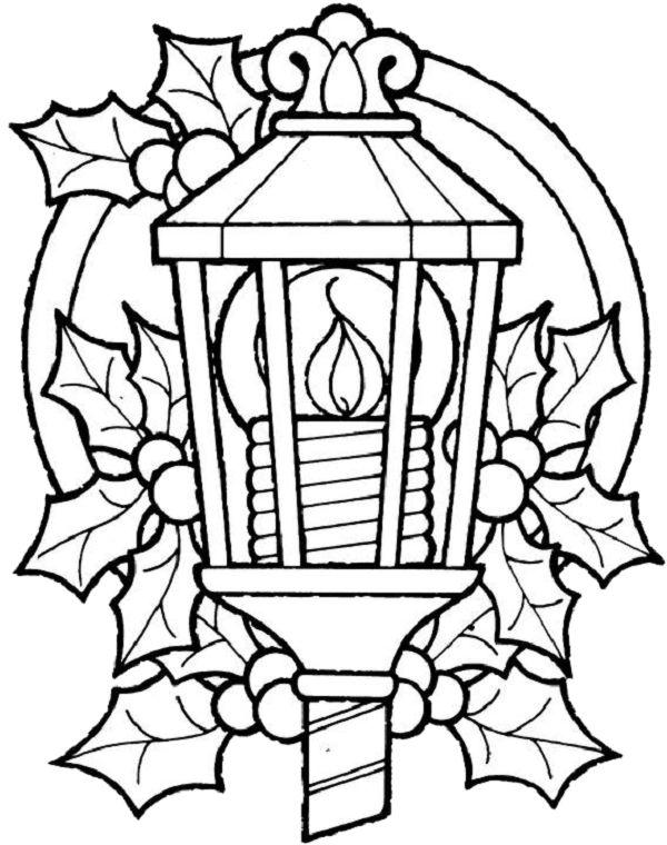christmas lantern coloring page