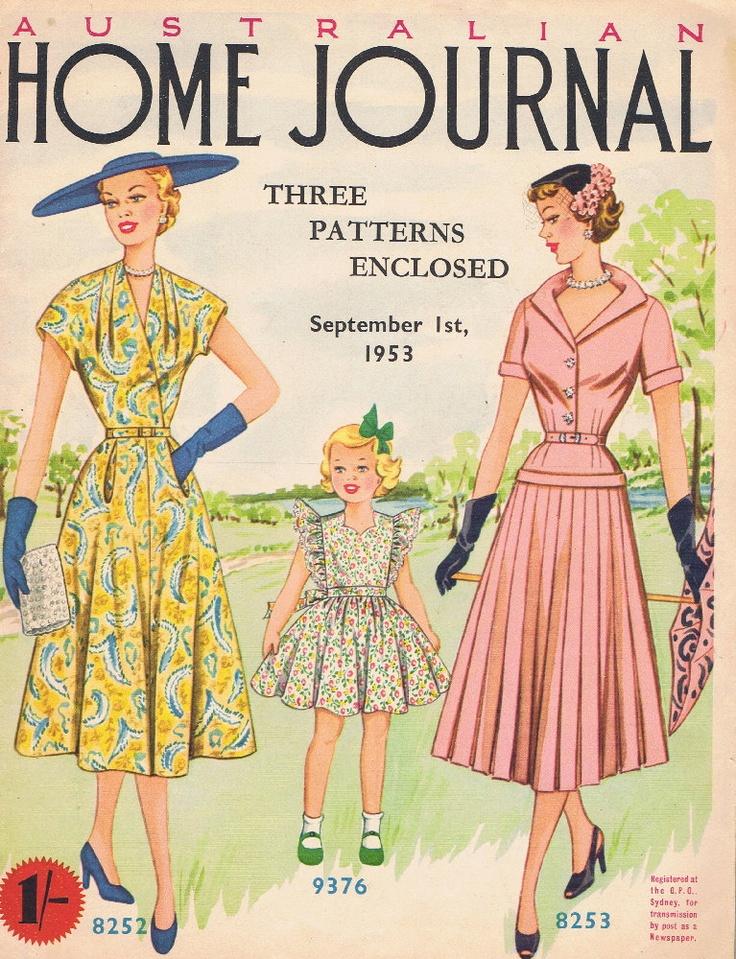 Vintage Dress Patterns 1953 Australian Home by GrannysTreasure