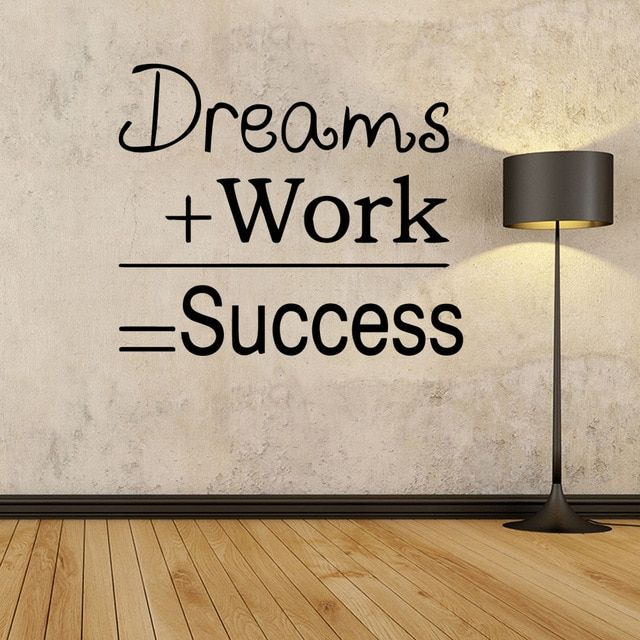 Dreams Work Quote Wall Stickers Mural House Decoration For Office Study Room Motivational Sentences Wall Deca Office Wall Decals Office Quotes Wall Wall Quotes