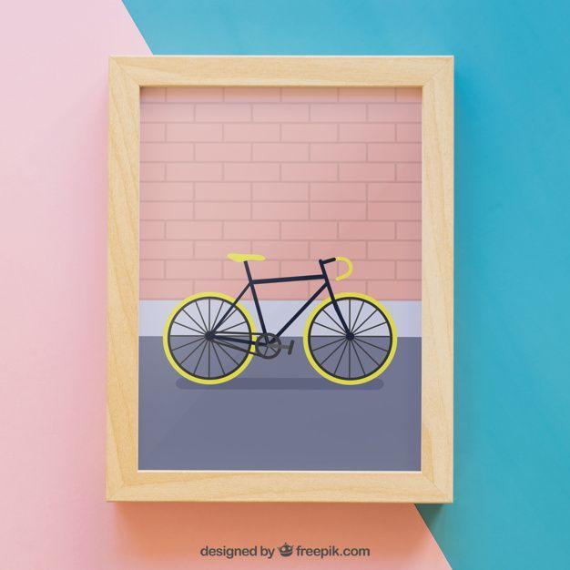 Download Download Frame Mockup With Bike For Free Frame Mockups Poster Frame Frame