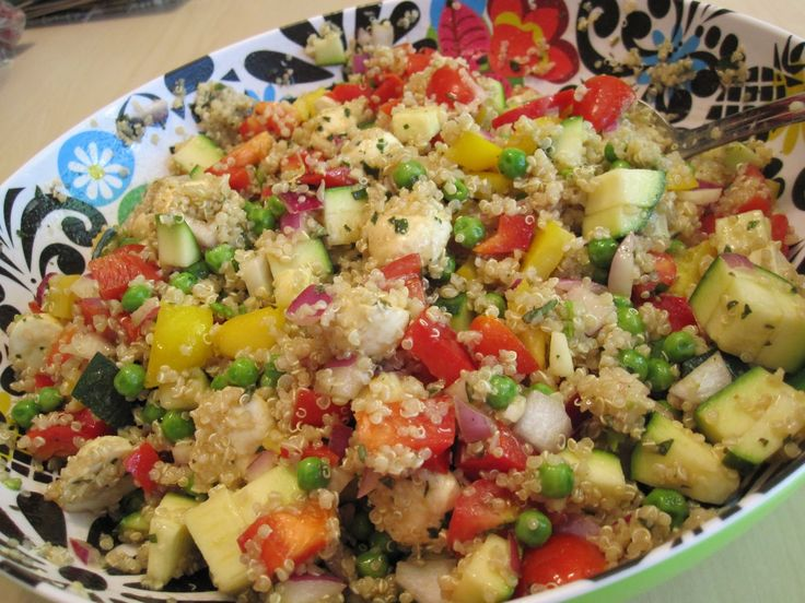 Quinoa is the basis for a delicious superfood salad which contains all 8 amino acids, making it a complete vegan protein source, high in vitamins/minerals.