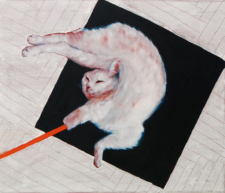 Malevic's cat,oil,canvas,60x40cm,2016