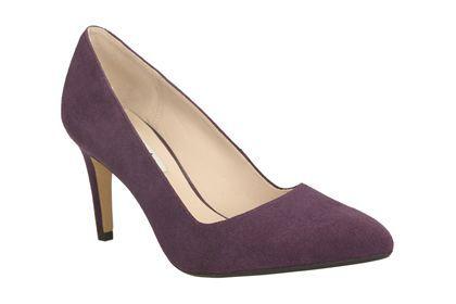 Clarks Dalhart Sorbet, Purple Suede, Womens Smart Shoes