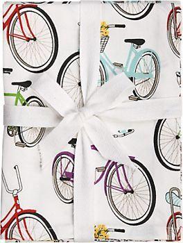 so cute! bike tea towels