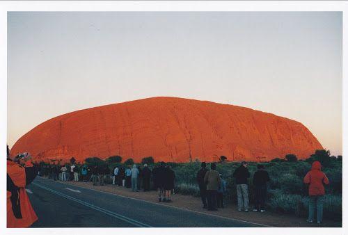 jouljet: Changing Colours of an Uluru Sunrise