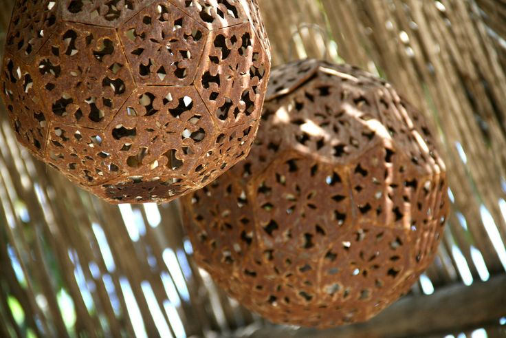 picture of rustic Mexican pendant lamps