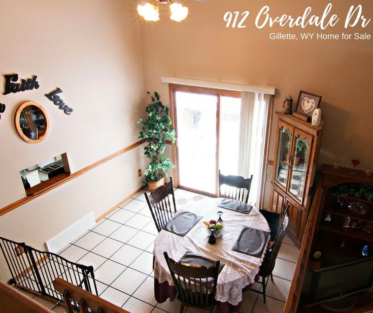 A separate dining area makes for a quality family meal. Come check out the unique layout at 912 Overdale Dr in Gillette, WY.