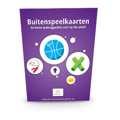 Buitenspeelkaarten : de beste spelsuggesties voor op het plein! (2012). Uitgever: Onderwijs Maak Je Samen.