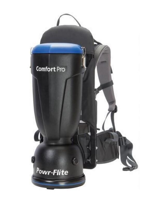 Powr-Flite BP6S Backpack Vacuum, 6 Quarts
