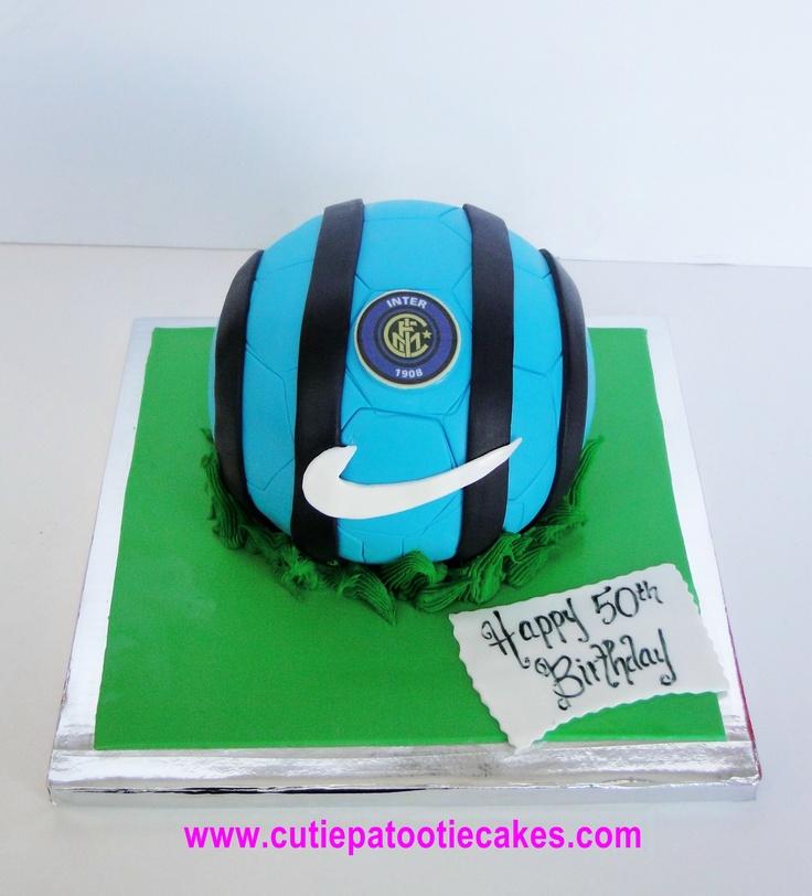 Inter Milan Soccer ball cake