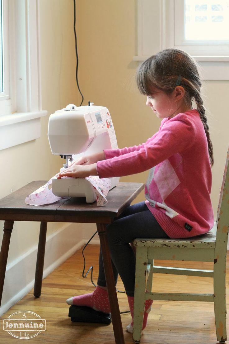 A Jennuine Life: Tiny Sewists: Teaching Kids to Sew :: Lesson 5