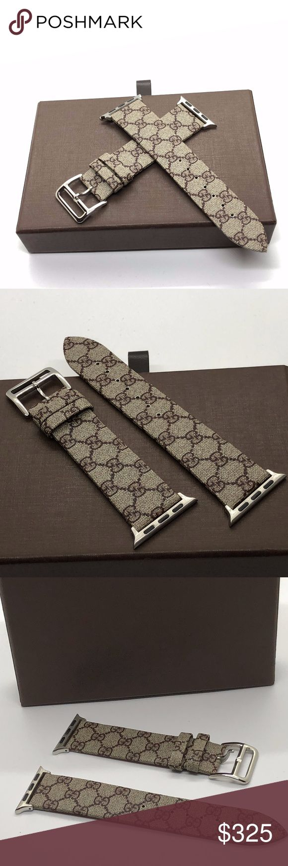 Vintage Gucci Apple Watch Replacement Band This luxury designer band is handmade with luxury fabric from authentic Gucci Handbag. The bands are designed for both men and women of all ages. The installation is very simple and can be done in seconds. You have the option to change the connector to other colors that may closely match the color of your watch. These bands are sure to be a discussion piece when worn around friends. Gucci Accessories Watches