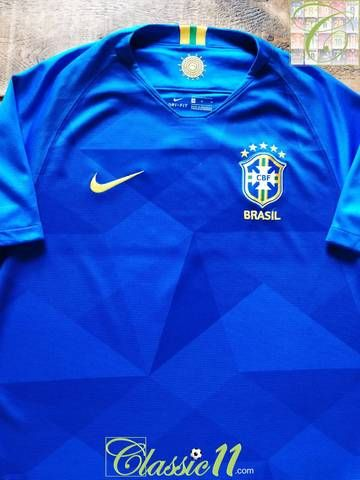 9ea58a39f Official Nike Brazil away football shirt from the 2018/19 international  season.