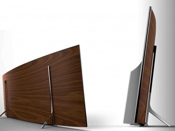 Parte posterior de las televisiones Samsung  curvados a 4K