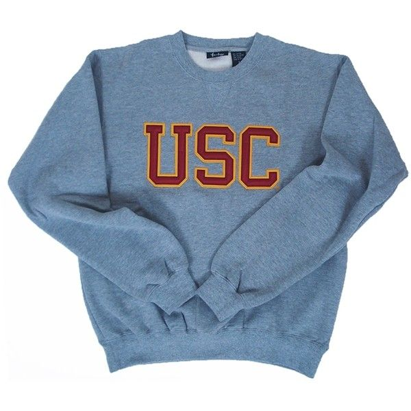 USC Oxford Tackle Twill Crew 06A ($39) ❤ liked on Polyvore featuring tops, sweaters, shirts, jumpers, blue oxford, crew-neck shirts, blue sweater, oxford shirt and crew-neck jumper