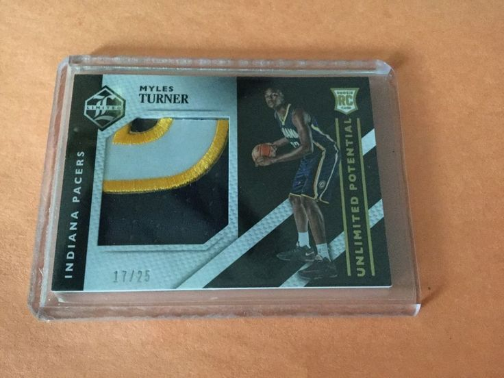 2015/16 Panini Limited Unlimited Potential 17/25 Myles Turner RC 3 Color Parch #IndianaPacers