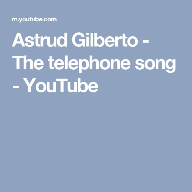 Astrud Gilberto - The telephone song - YouTube
