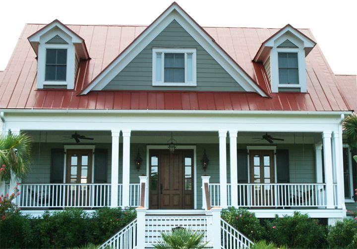 Best Red Roof And Grey Siding Recherche Google Annick 400 x 300
