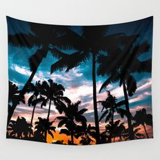 25% OFF + FREE SHIPPING ON ALL WALL TAPESTRIES - SALE ENDS TONIGHT AT MIDNIGHT PT.Palm trees dream Wall Tapestry