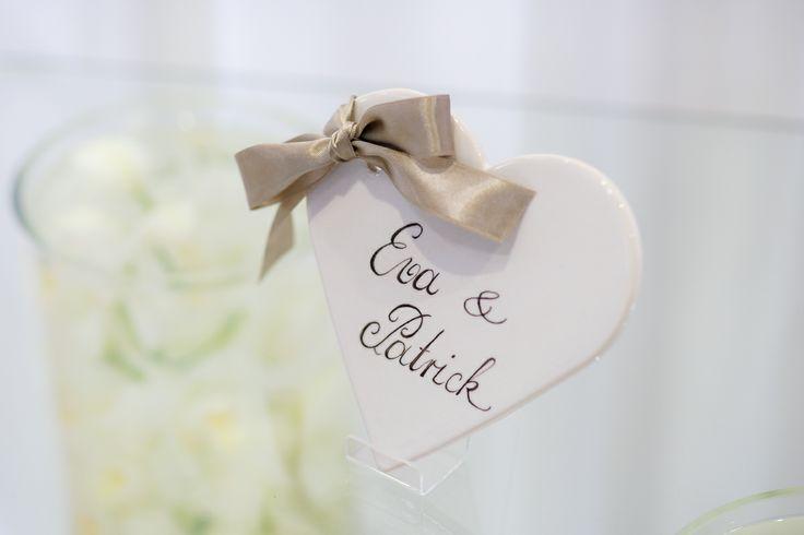 Personalisiertes Herz für Hochzeiten & die Liebe www.lillykriss.com