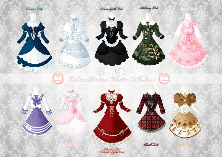 Loli Dresses Winter Collection by Neko-Vi.deviantart.com