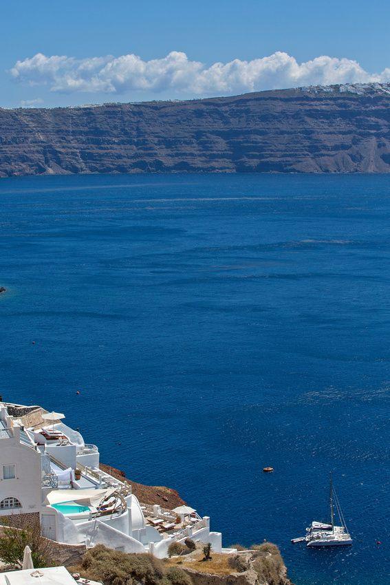 Sailing in the Santorini Caldera