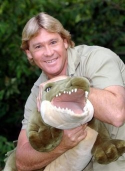 Steve Irwin   02/22/62 - 09/4/06 while swimming near a stingray, with a flick of it's tail the barbs of the ray's tail punctured his heart