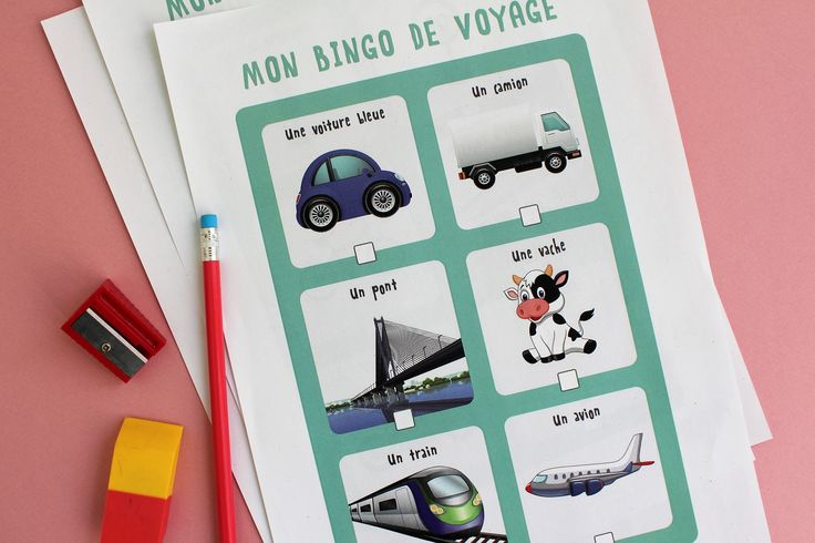 Si vous prenez la route avec les enfants, n'oubliez pas d'imprimer le Bingo de voyage ! Il est disponible sur notre application gratuite #ludikid !
