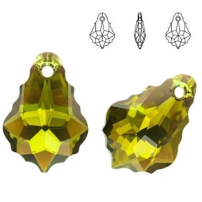 6090 Baroque 16mm Olivine AB  Dimensions: 16,0 mm Colour: Olivine AB 1 package = 1 piece