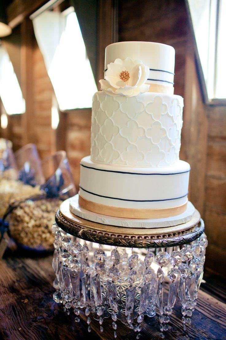 Wedding cake: Sarah's Cake Shop - Glam Barn Styled Shoot from White-Klump Photography