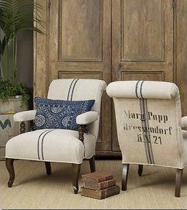 Burlap Chairs, or coffee bags #chair #burlap #rusticstyle