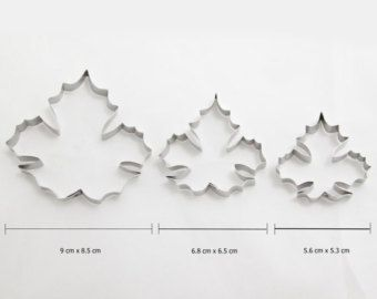 Cutter set for Maple leaves - 3 sizes -    Edit Listing  - Etsy